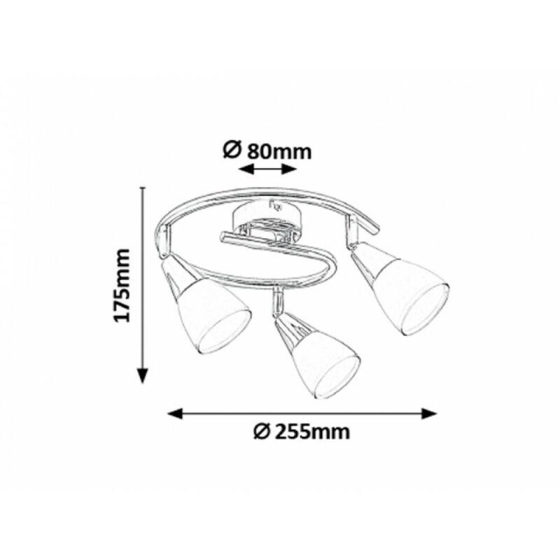 Rábalux Nicolette 6769 mennyezeti lámpa króm fém E14 3x MAX 40 E14 3 db IP20