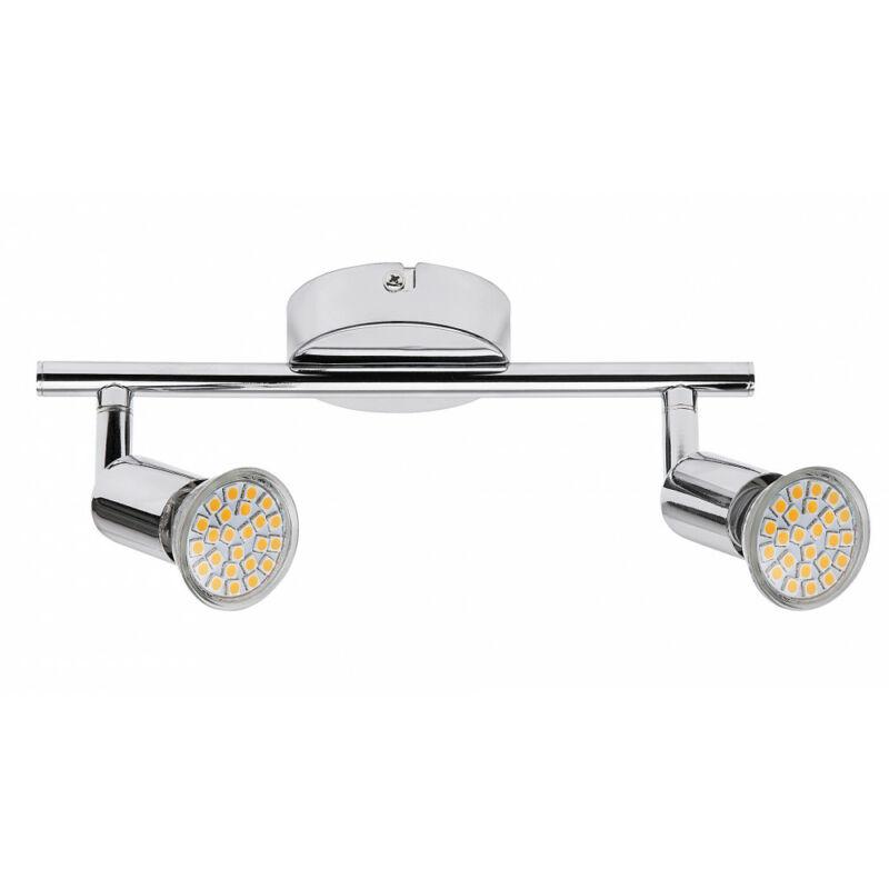 Rábalux Norton LED 6987 mennyezeti spot lámpa króm fém GU10 2x MAX 50 GU10 2 db 500 lm 3000 K IP20 F