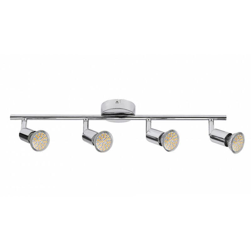 Rábalux Norton LED 6988 mennyezeti spot lámpa króm fém GU10 4x MAX 50 GU10 4 db 880 lm 3000 K IP20 A+