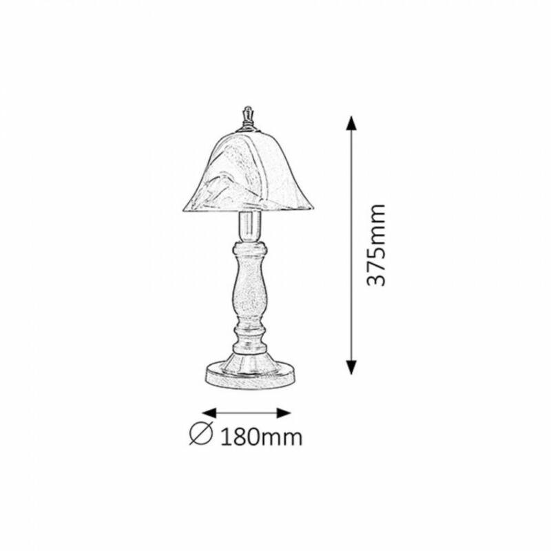 Rábalux Rustic 3 7092 éjjeli asztali lámpa bronz fém/ fa E14 1x MAX 40 E14 1 db IP20