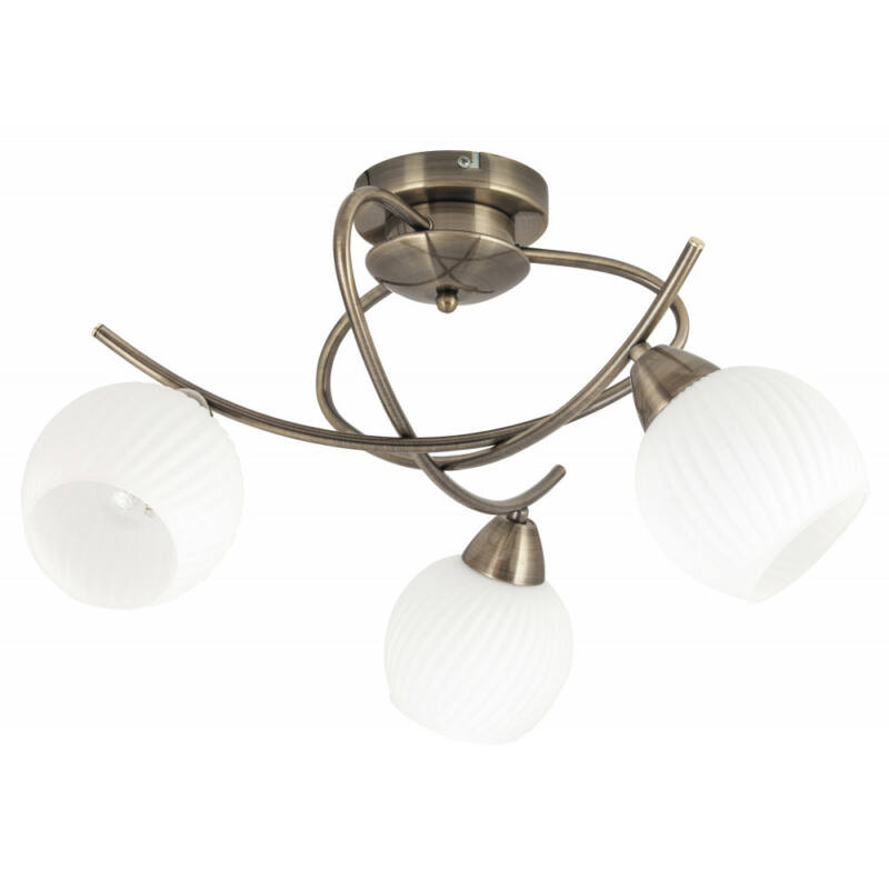 Rábalux Evangeline 7119 mennyezeti lámpa  antik bronz   fém   E14 3x MAX 40W   IP20