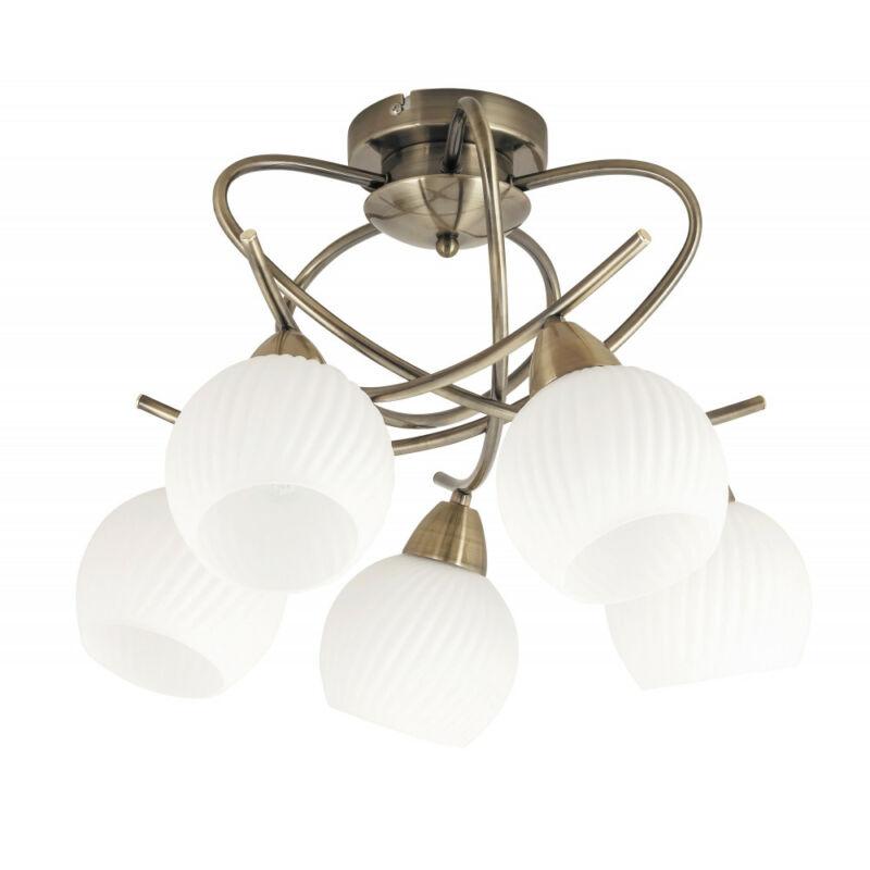 Rábalux Evangeline 7120 mennyezeti lámpa  antik bronz   fém   E14 5x MAX 40W   IP20