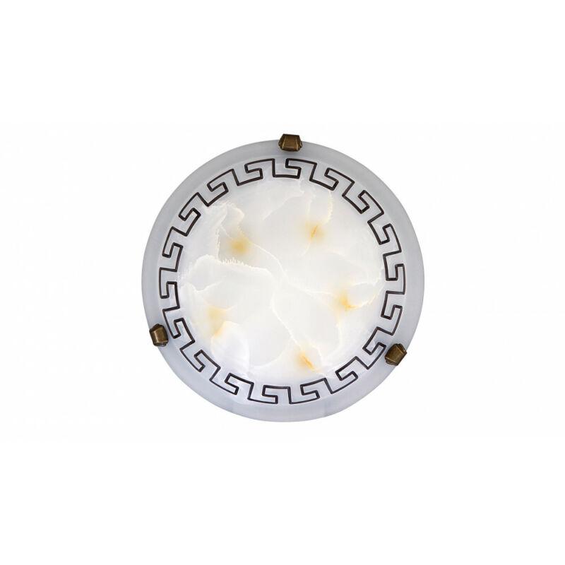 Rábalux Etrusco 7648 ufó lámpa fehér alabástrom üveg fém E27 1x MAX 60 E27 1 db IP20