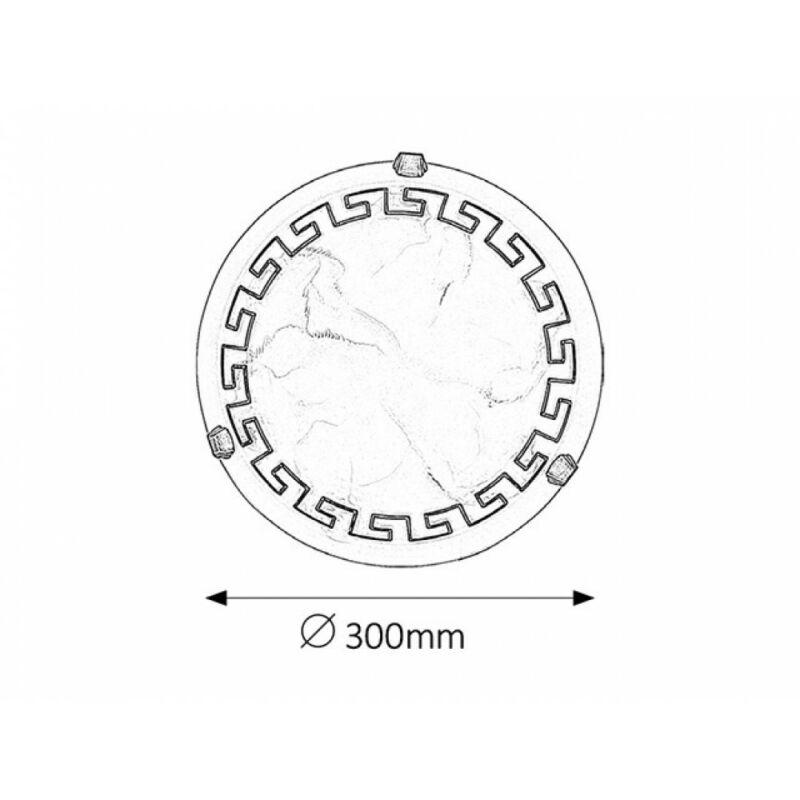 Rábalux Etrusco 7648 ufó lámpa  fehér alabástrom üveg   fém   E27 1x MAX 60W   IP20