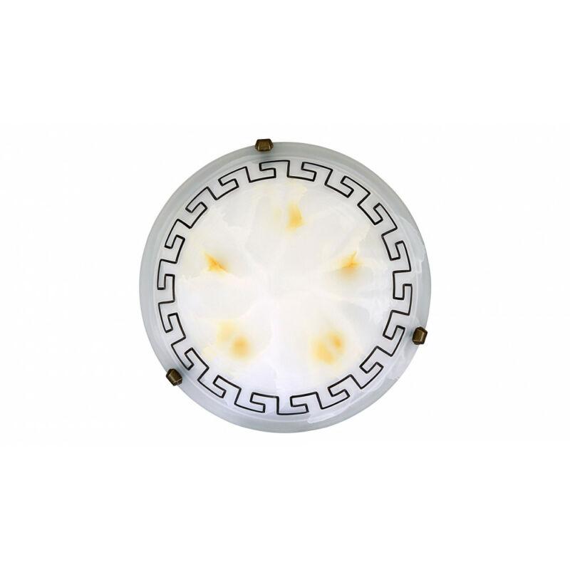 Rábalux Etrusco 7649 ufó lámpa fehér alabástrom üveg fém E27 2x MAX 60 E27 2 db IP20