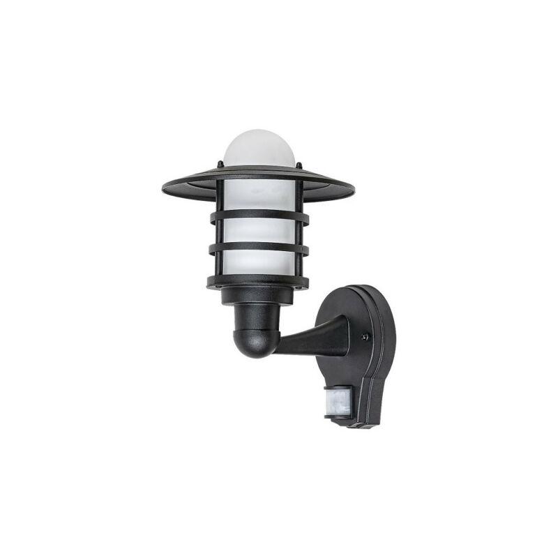 Rábalux Darrington 7679 mozgásérzékelős fali lámpa fekete fém E27 1x MAX 20 E27 1 db IP44
