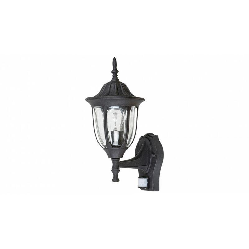 Rábalux Milano 7837 mozgásérzékelős fali lámpa matt fekete fém E27 1x MAX 60 E27 1 db IP43