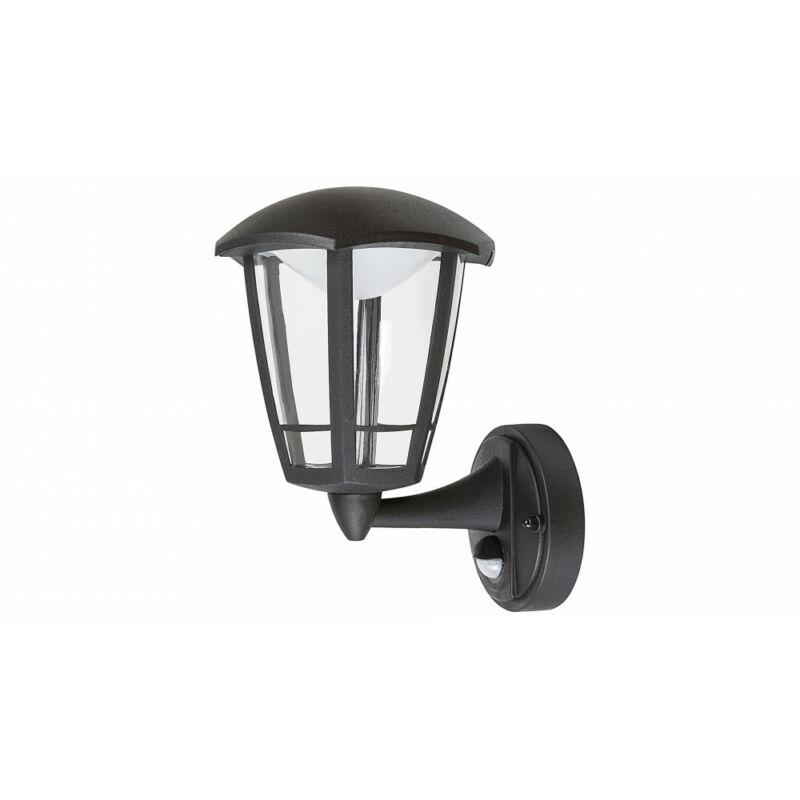 Rábalux Sorrento 7849 mozgásérzékelős fali lámpa matt fekete műanyag LED 8 500 lm 3000 K IP44 A