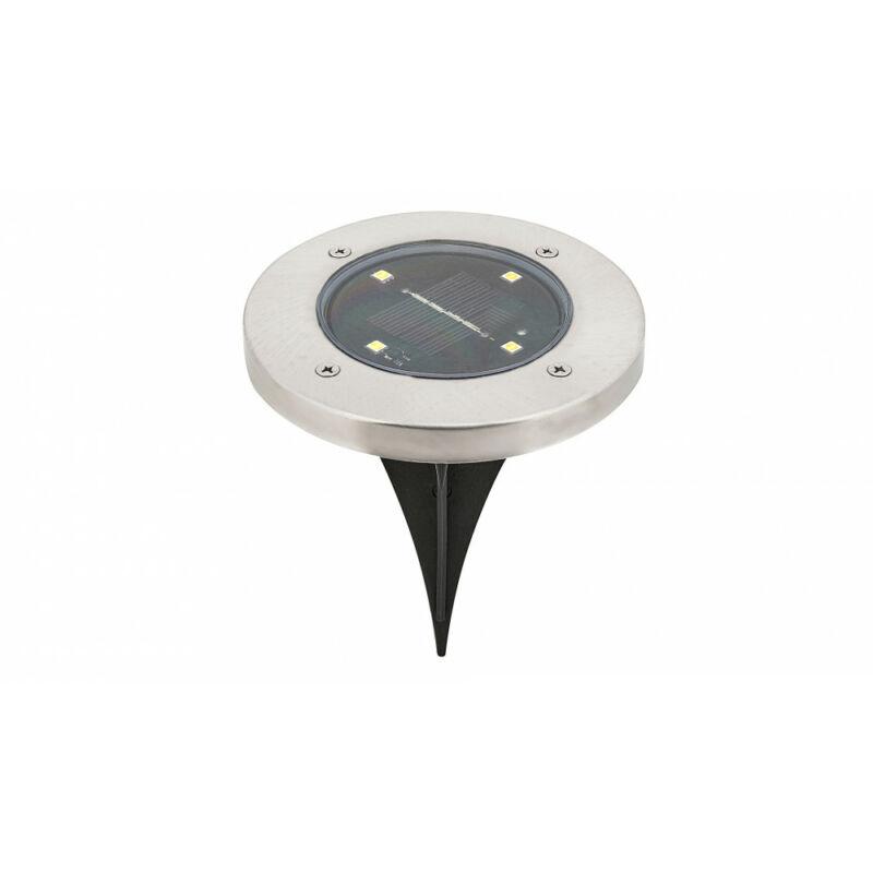Rábalux Dannet 7975 kültéri leszúrható lámpa szatin króm fém LED 0,24 4 lm 4000 K IP44