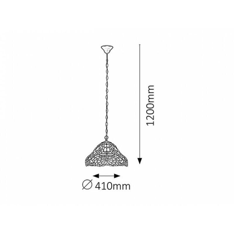 Rábalux Mirella 8086 konyhai csillár bronz fém E27 2x MAX 60 E27 2 db IP20