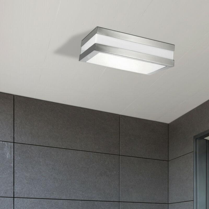 Rábalux Stuttgart 8227 mennyezeti lámpa szatin króm fém E27 2x MAX 11 E27 2 db IP44
