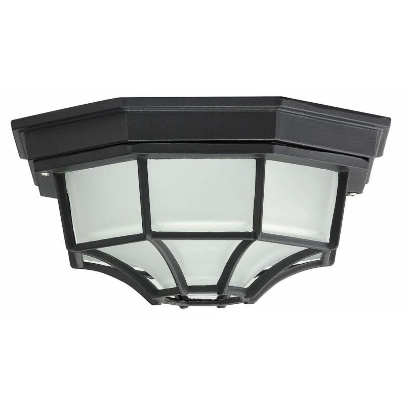 Rábalux Milano 8346 kültéri mennyezeti lámpa fekete fém E27 1x MAX 100 E27 1 db IP43