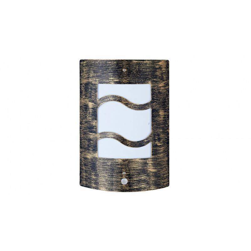 Rábalux Denver 4 8518 mozgásérzékelős fali lámpa antik arany fém/ műanyag E27 1x MAX 60 E27 1 db IP44