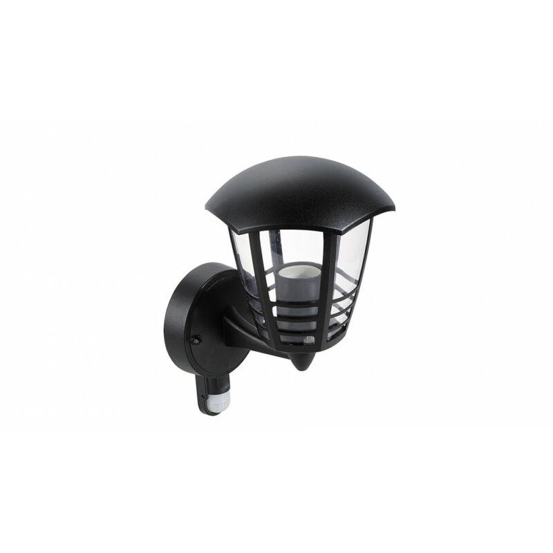Rábalux Marseille 8578 mozgásérzékelős fali lámpa fekete fém E27 1x MAX 60 E27 1 db IP44