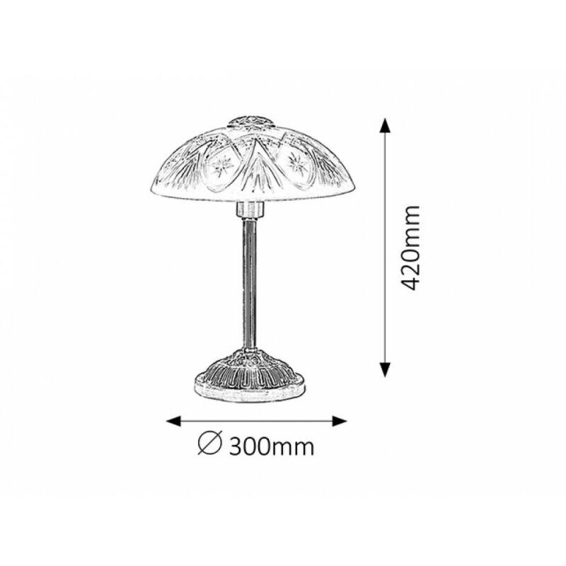 Rábalux Annabella 8634 éjjeli asztali lámpa bronz fém E14 1x MAX 40 E14 1 db IP20