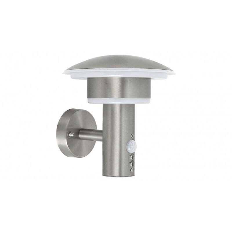 Rábalux Denmark 8977 mozgásérzékelős fali lámpa szatin króm fém LED 9 1000 lm 4000 K IP44 A+