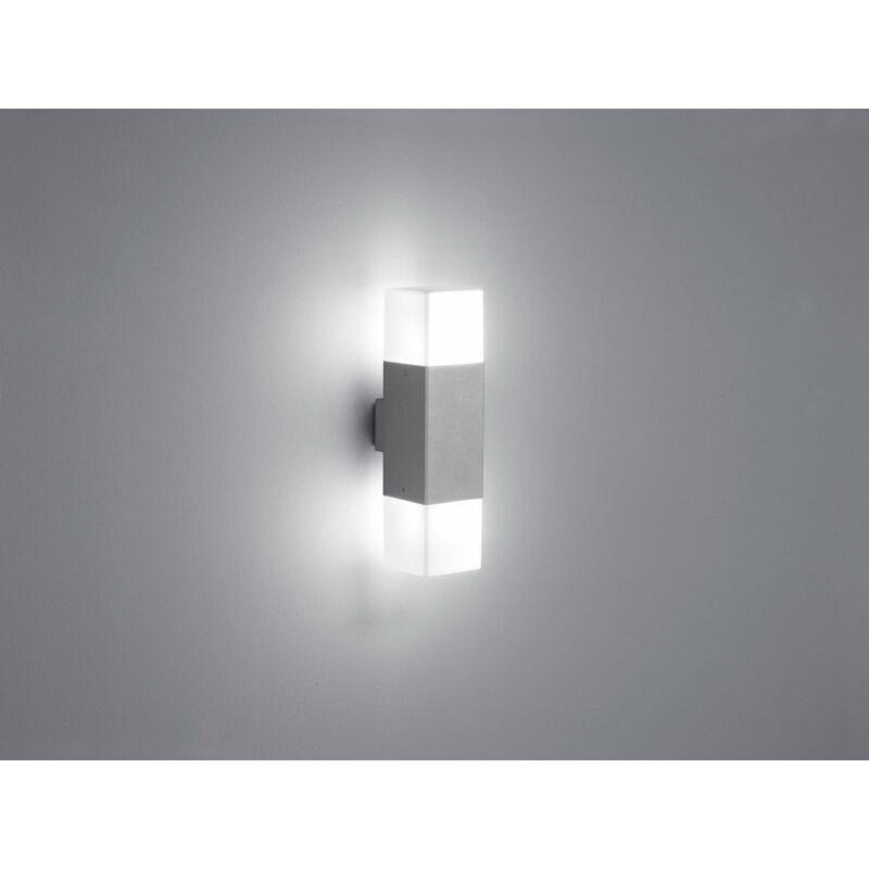 Trio HUDSON 220060287 fali lámpa ezüst alumínium incl. 2 x E14, 4W, 3000K, 320Lm E14 2 db
