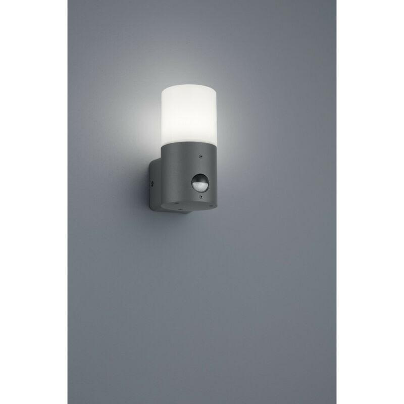 Trio HOOSIC 222260142 mozgásérzékelős fali lámpa antracit fröccsöntött alumínium excl. 1 x E27, max. 28W E27 1 db IP44