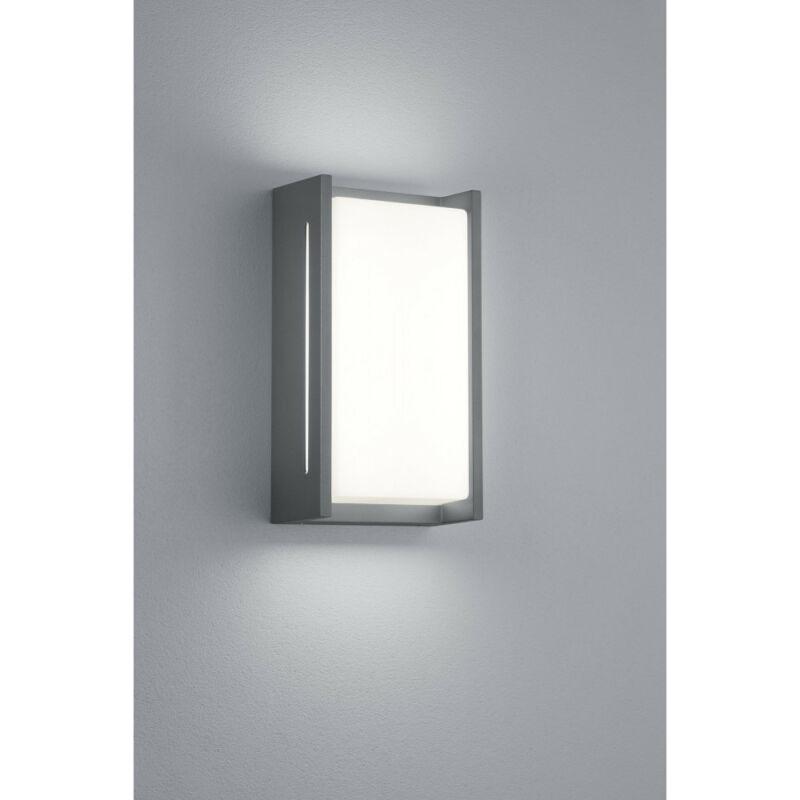 Trio INDUS 227360142 kültéri fali led lámpa antracit alumínium incl. 1 x SMD, 8,5W, 3000K, 850Lm 850 lm 3000 K IP54 A+