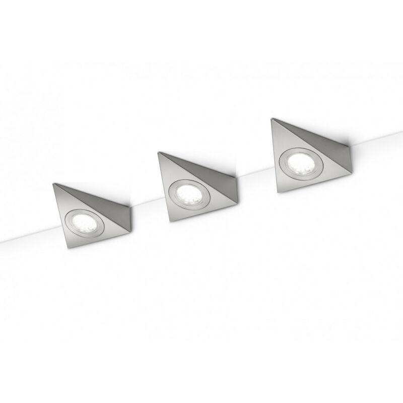 Trio ECCO 273370307 konyhapult világítás matt nikkel fém incl. 3 x SMD, 3W, 3000K, 200Lm SMD 3 db 200 lm 3000 K IP20
