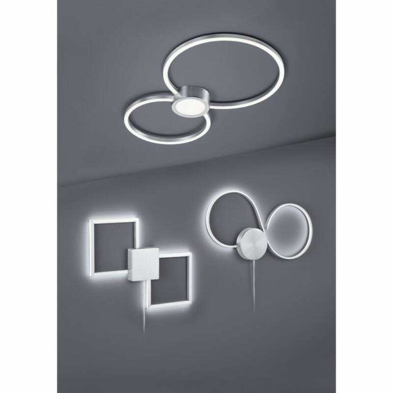 Trio HYDRA 676290307 mennyezeti lámpa  matt nikkel   fém   incl. 1 x SMD, 28W, 3000K, 2600Lm   2600 lm  3000 K  IP20   A