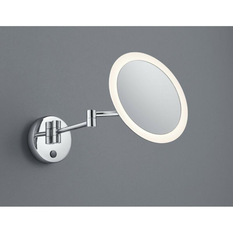 Trio VIEW 282990106 fürdőszobai tükör króm fém incl. 1 x SMD, 3W, 3000K, 280Lm 280 lm 3000 K IP44 A+