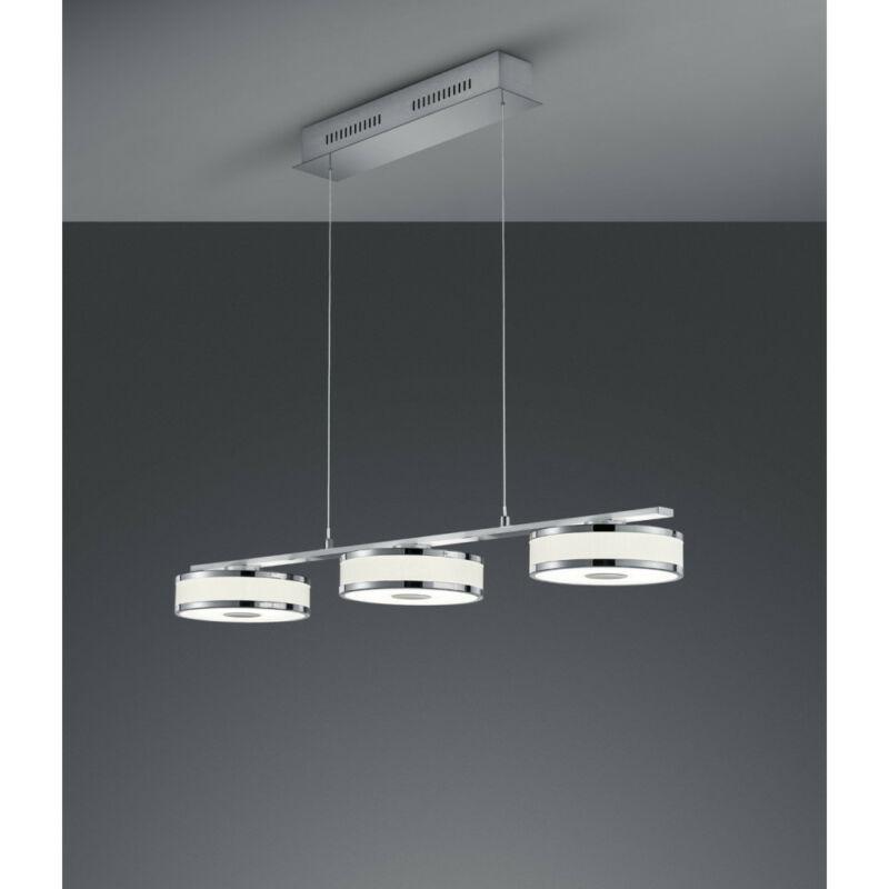 Trio AGENTO 378010307 étkező lámpa matt nikkel fém incl. 3 x SMD, 7,5W, 3000K, 750Lm SMD 3 db 750 lm IP20 A+