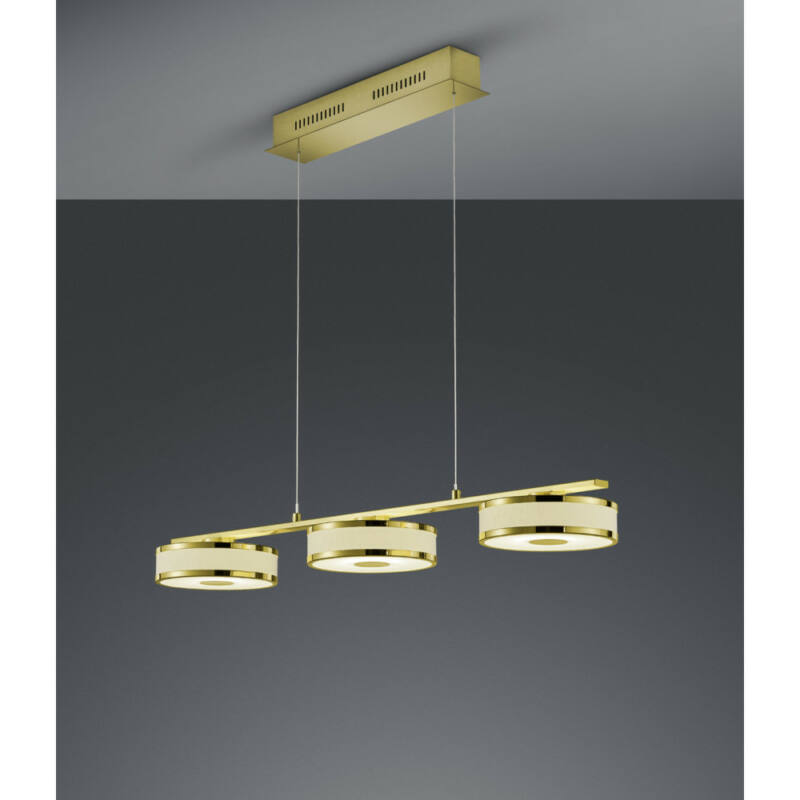 Trio Agento 378010308 étkező lámpa sárgaréz fém incl. 3 x SMD, 7,5W, 3000K, 750Lm SMD 3 db 750 lm 3000 K IP20 A+