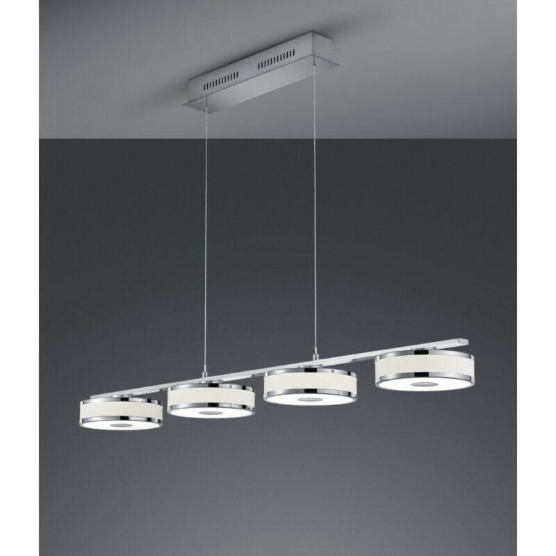 Trio AGENTO 378010407 étkező lámpa matt nikkel fém incl. 4 x SMD, 7,5W, 3000K, 750Lm SMD 4 db 750 lm IP20 A+