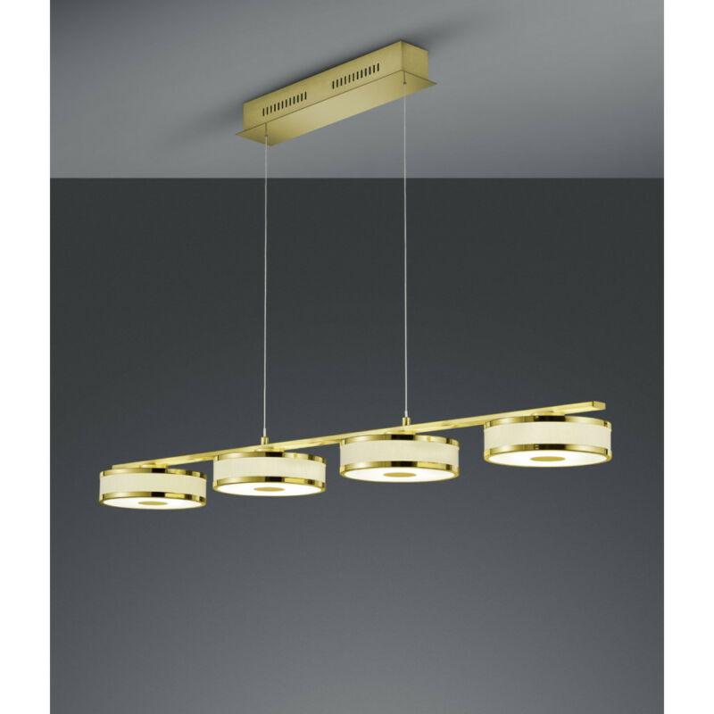 Trio AGENTO 378010408 étkező lámpa matt sárgaréz fém incl. 4 x SMD, 7,5W, 3000K, 750Lm SMD 4 db 750 lm IP20 A+