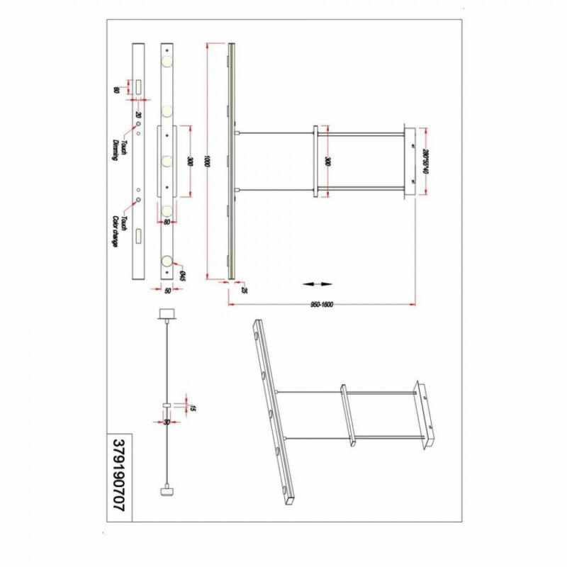 Trio LACAL 379190707 többágú függeszték  matt nikkel   fém   incl. 7 x SMD, 3,5W, 3000 + 5000K, 350Lm   7 db  350 lm  3000 K  IP20   A+