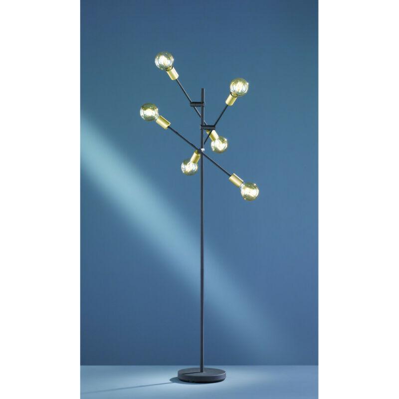 Trio CROSS 406700632 dekor lámpa matt fekete fém excl. 6 x E27, max. 28W E27 6 db IP20