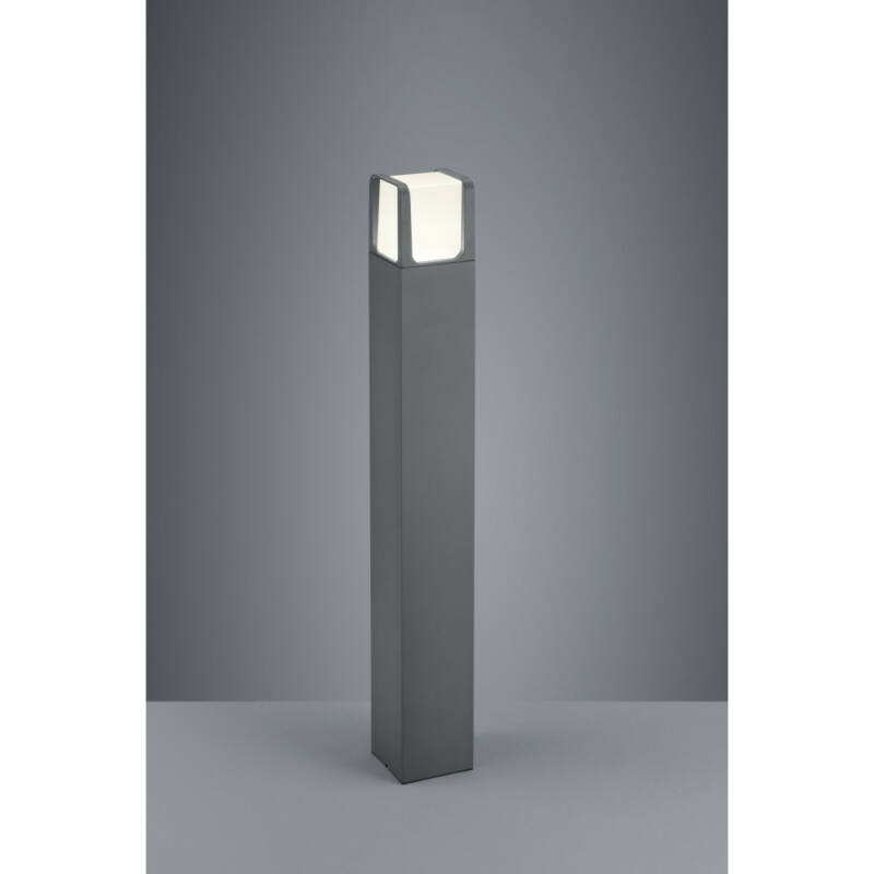 Trio EBRO 422160142 kültéri led állólámpa antracit alumínium incl. 1 x SMD, 6W, 3000K, 650Lm 650 lm 3000 K IP54 A+
