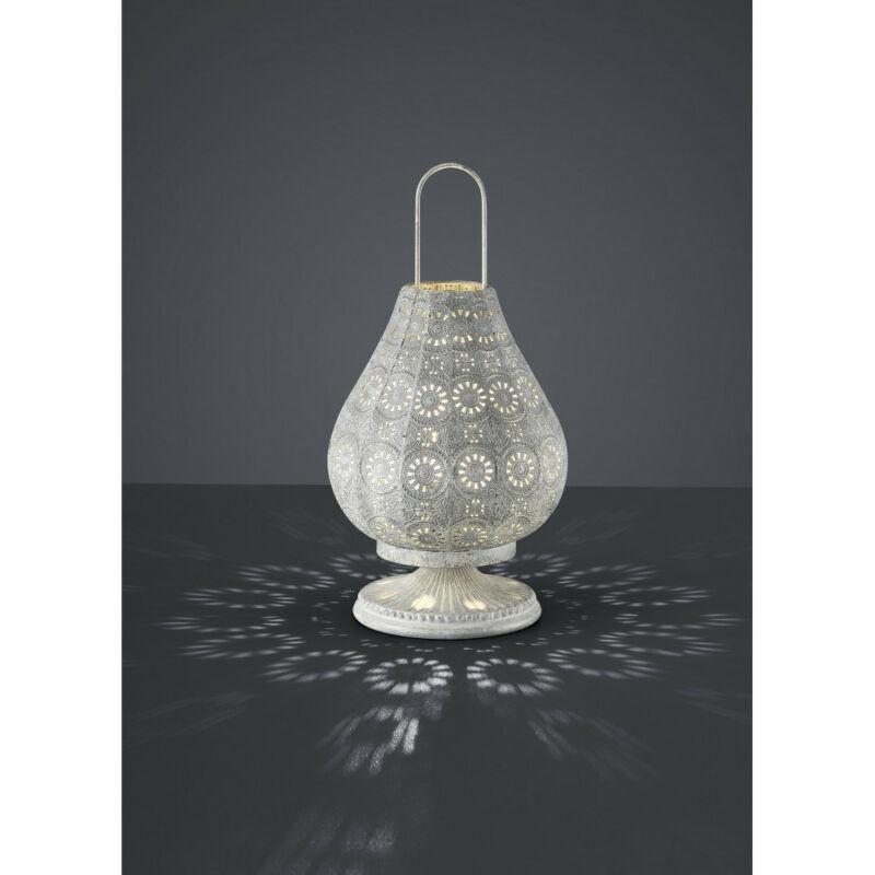 Trio JASMIN 503700161 asztali lámpa antik szürke fém excl. 1 x E14, max. 40W E14 1 db IP20