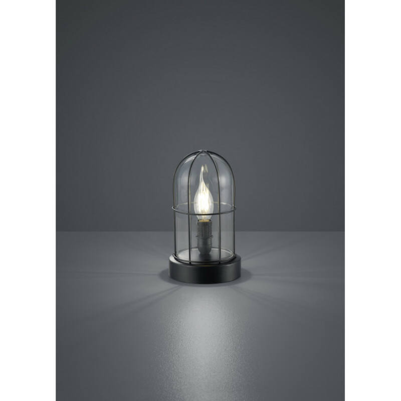 Trio BIRTE 503800102 asztali lámpa fekete fém excl. 1 x E14, max. 40W E14 1 db IP20