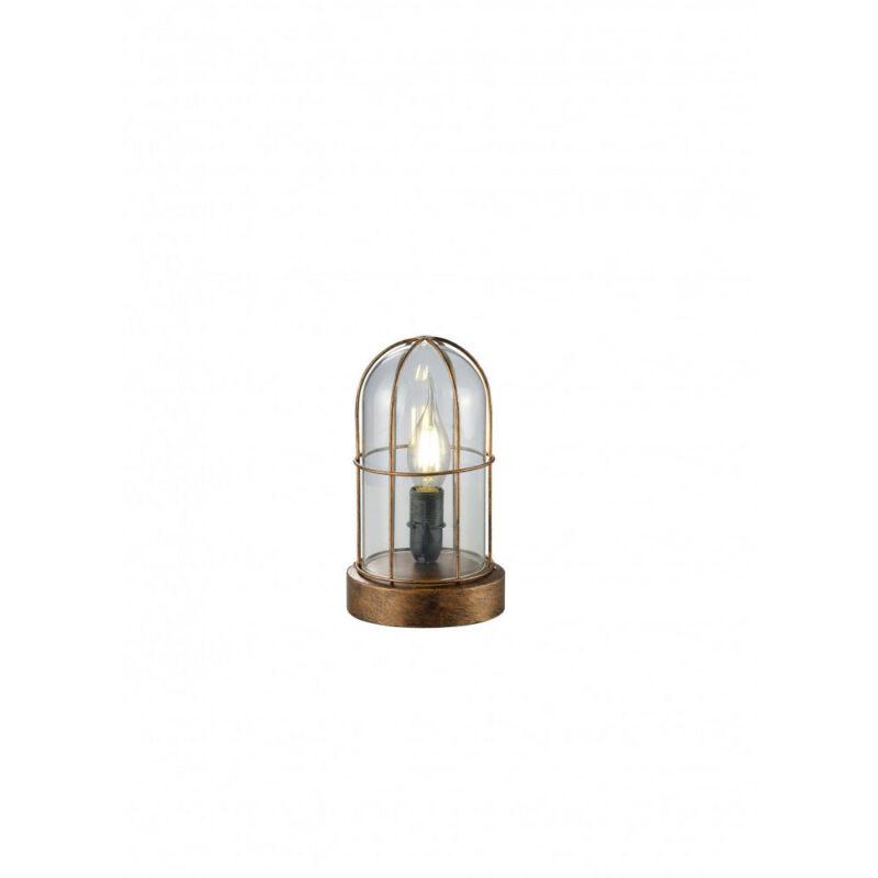 Trio BIRTE 503800162 asztali lámpa antik réz fém excl. 1 x E14, max. 40W E14 1 db IP20