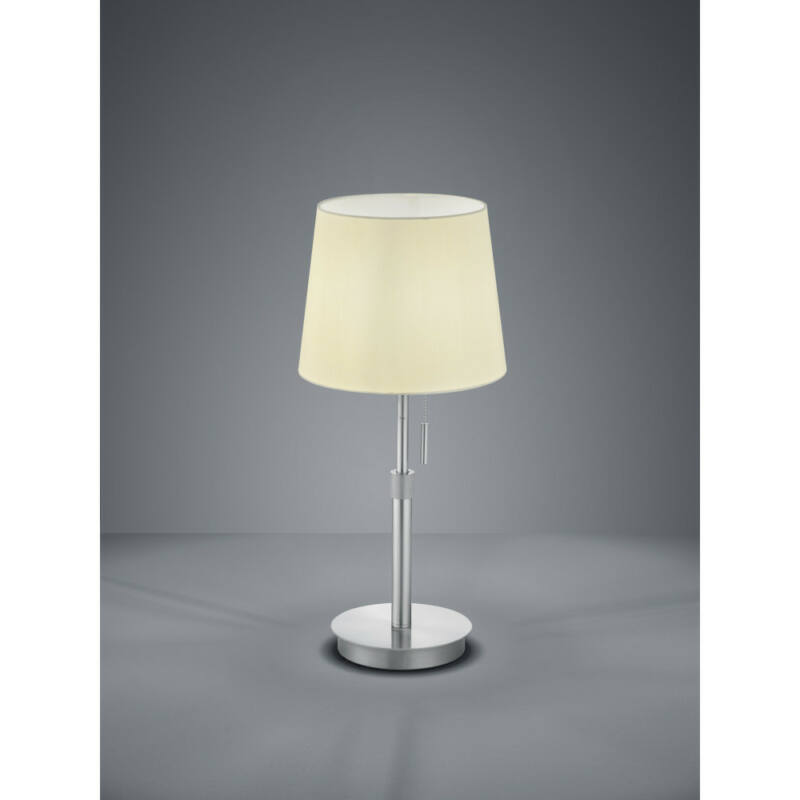 Trio LYON 509100107 éjjeli asztali lámpa matt nikkel fém excl. 1 x E27, max. 60W E27 1 db IP20