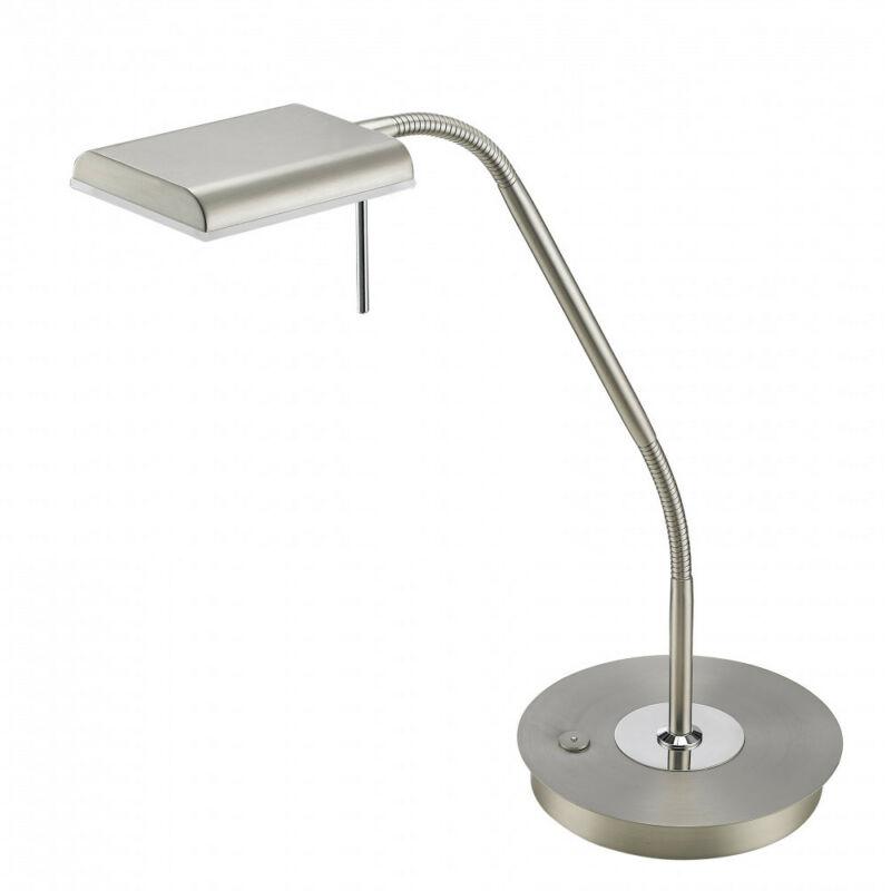 Trio BERGAMO 520910107 ledes asztali lámpa matt nikkel fém incl. 1 x SMD, 12W, 3000K, 1100Lm 1100 lm 3000 K IP20 A+