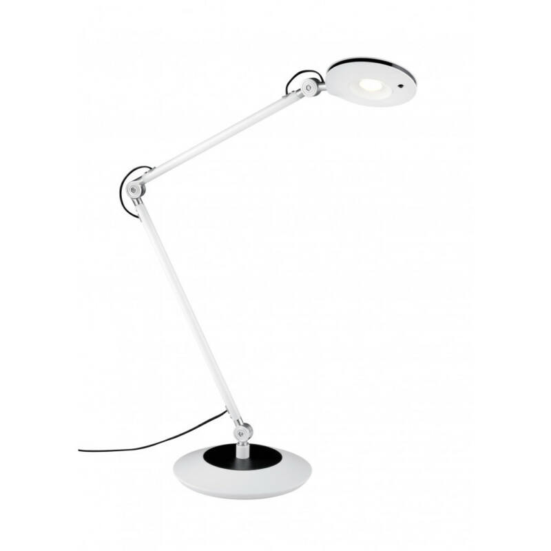 Trio RODERIC 527410101 íróasztal lámpa fehér fém incl. 1 x SMD, 6W, 3000K, 670Lm 670 lm 3000 K IP20 A+