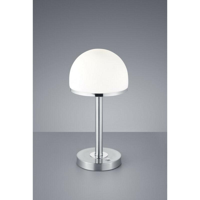 Trio BERLIN 527590107 éjjeli asztali lámpa matt nikkel fém incl. 1 x SMD, 4W, 3000K, 350Lm 350 lm 3000 K IP20 A+