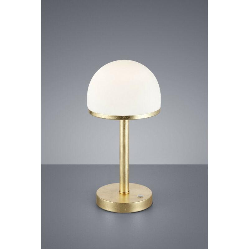Trio BERLIN 527590179 éjjeli asztali lámpa arany fém incl. 1 x SMD, 4W, 3000K, 350Lm 350 lm 3000 K IP20 A+