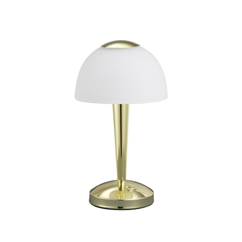 Trio VENTURA 529990103 érintőkapcsolós asztali lámpa sárgaréz fém incl. 1 x SMD, 4W, 3000K, 350Lm LED 1 db 400 lm 2700 K IP20