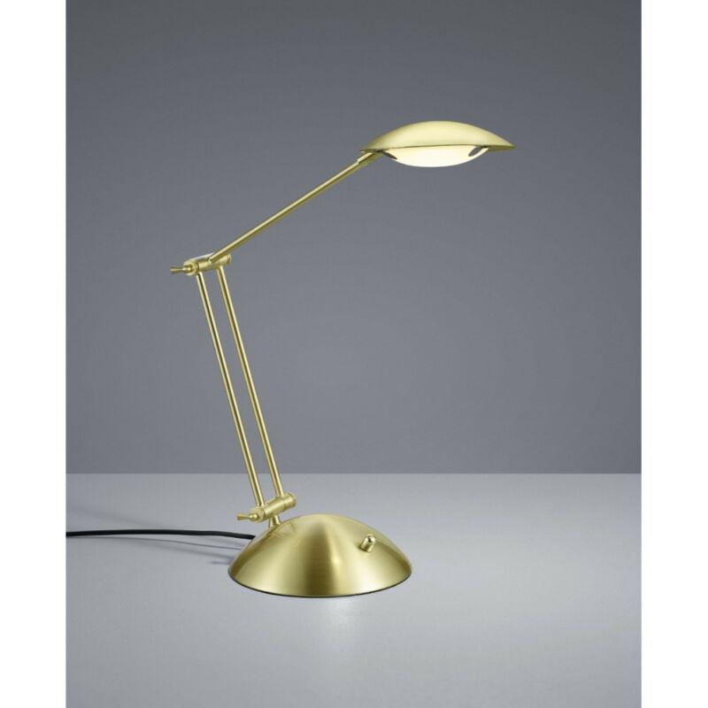 Trio CALCIO 572410108 ledes asztali lámpa sárgaréz fém incl. 1 x SMD, 6W, 3000K, 560Lm 560 lm 3000 K IP20 A+
