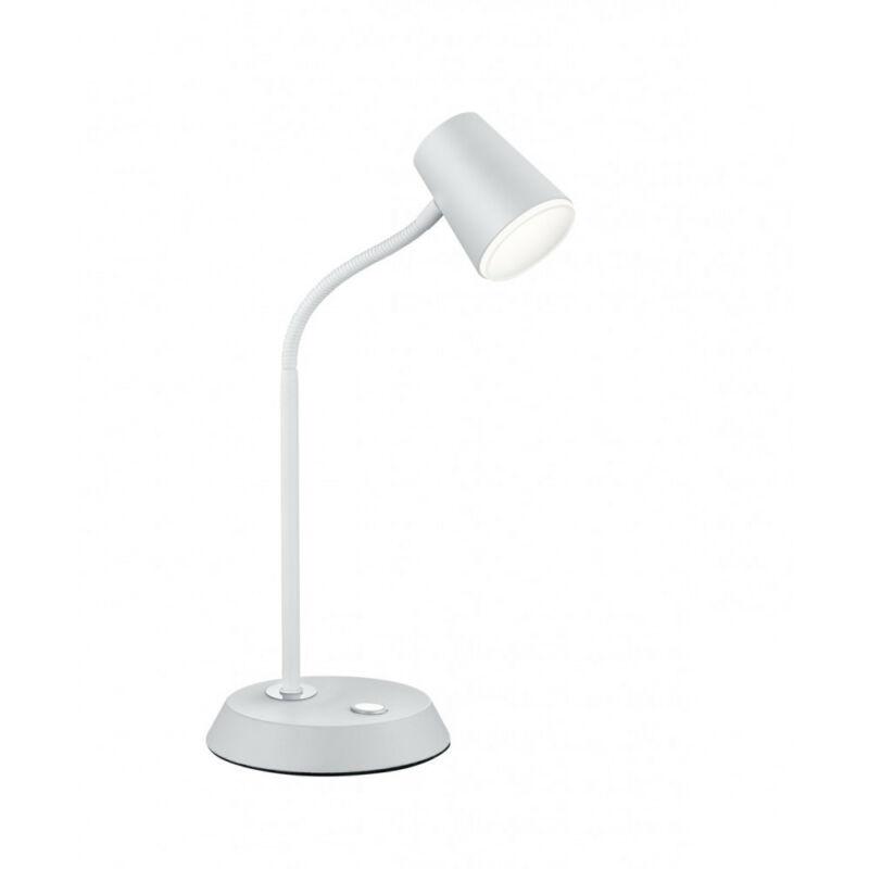 Trio NARCOS 573190131 ledes asztali lámpa matt fehér fém incl. 1 x SMD, 4,7W, 3000K, 470Lm 470 lm 3000 K IP20 A+