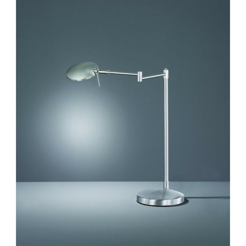 Trio KAZAN 574790107 íróasztal lámpa matt nikkel fém incl. 1 x SMD, 8W, 3000K, 750Lm SMD 1 db 750 lm IP20 A+