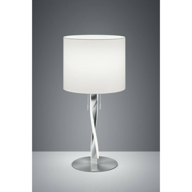 Trio NANDOR 575310307 éjjeli asztali lámpa matt nikkel fém incl. 2 x SMD, 3W, 3000K, 300Lm SMD 2 db 300 lm IP20 A+