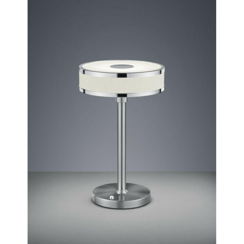 Trio AGENTO 578090107 éjjeli asztali lámpa matt nikkel fém incl. 1 x SMD, 7,5W, 3000K, 750Lm SMD 1 db 750 lm IP20 A+