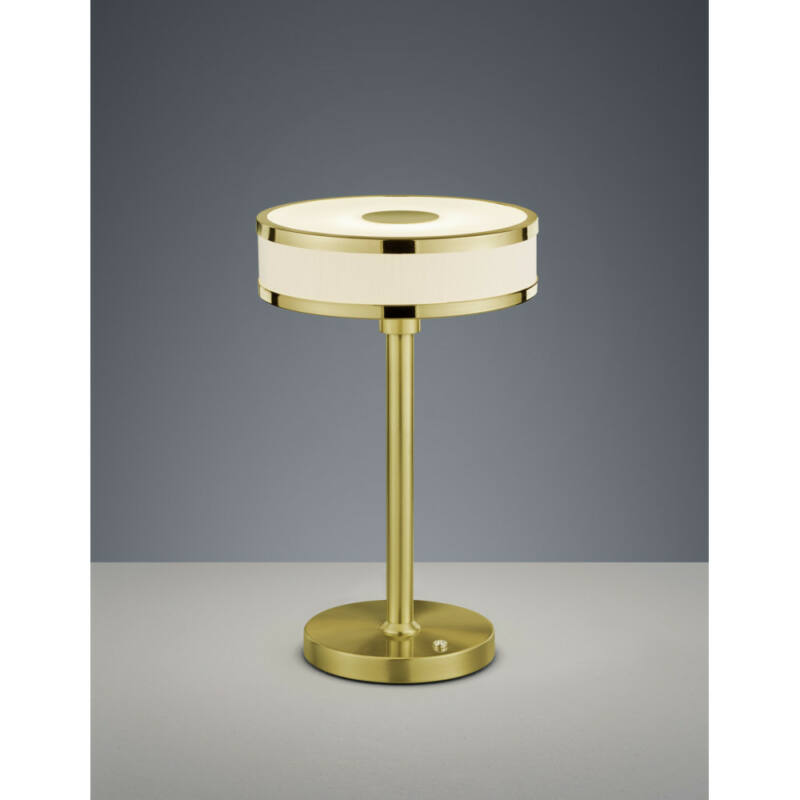 Trio AGENTO 578090108 éjjeli asztali lámpa matt sárgaréz fém incl. 1 x SMD, 7,5W, 3000K, 750Lm SMD 1 db 750 lm IP20 A+