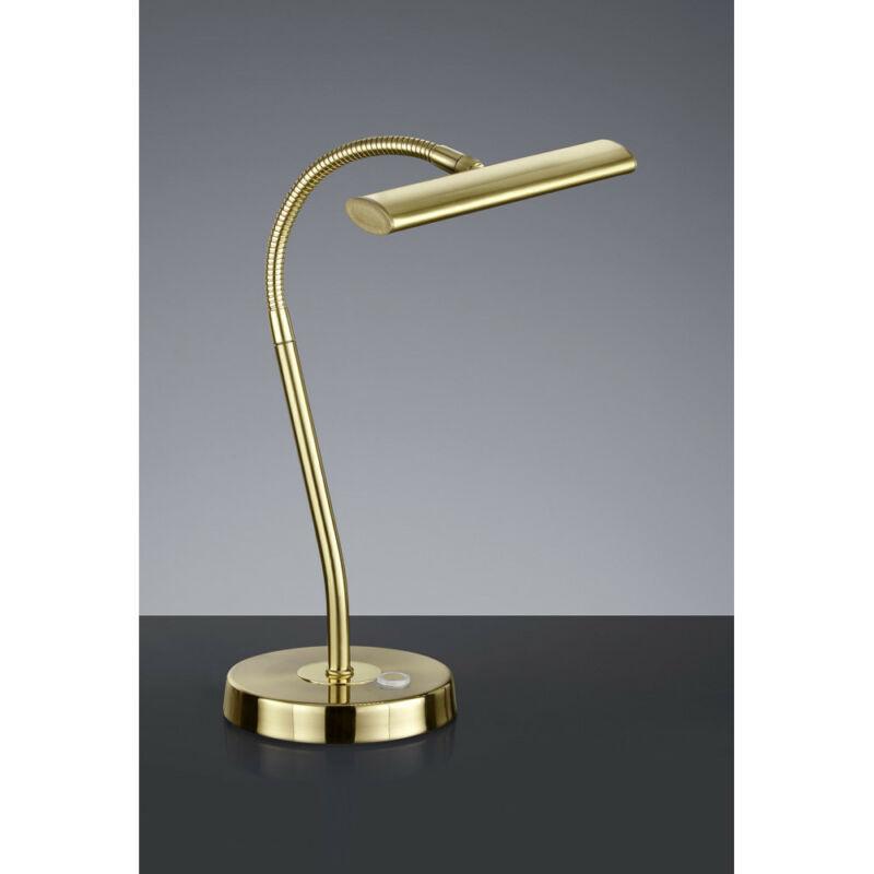 Trio CURTIS 579790108 érintőkapcsolós asztali lámpa sárgaréz fém incl. 1 x SMD, 4W, 3000K, 380Lm 380 lm 2700 K IP20
