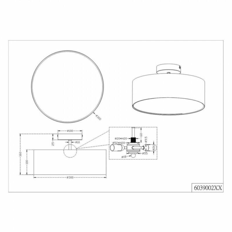 Trio HOTEL 603900202 mennyezeti lámpa  matt nikkel   fém   excl. 2 x E14, max. 40W   E14   2 db  IP20
